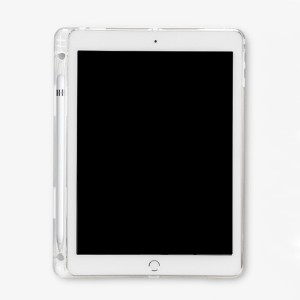 뉴즐 2018 아이패드 9.7 6세대 애플펜슬 수납 투명 젤리 케이스