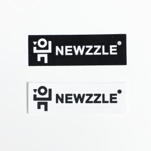 뉴즐 로고 네모 실리콘 라벨 와펜 스티커